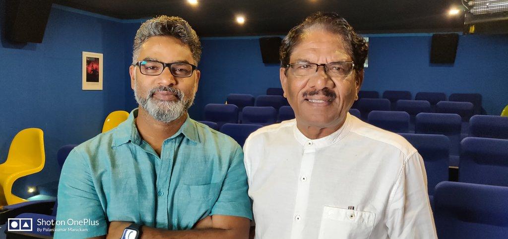 தமிழக இயக்குனர் பாராதிராஜா அவர்களுடன் ரஞ்சித்